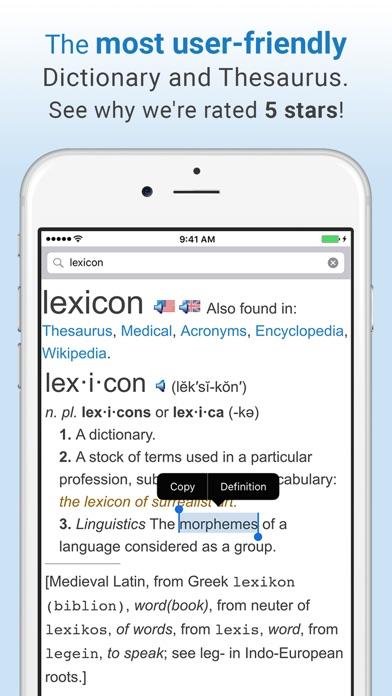 Dictionary review screenshots