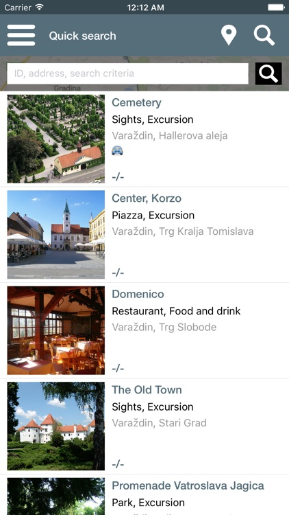 City Guide App Varaždin