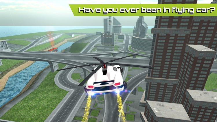 Flying Car Futuristic Rescue Helicopter Flight Simulator - Extreme Muscle Car 3D