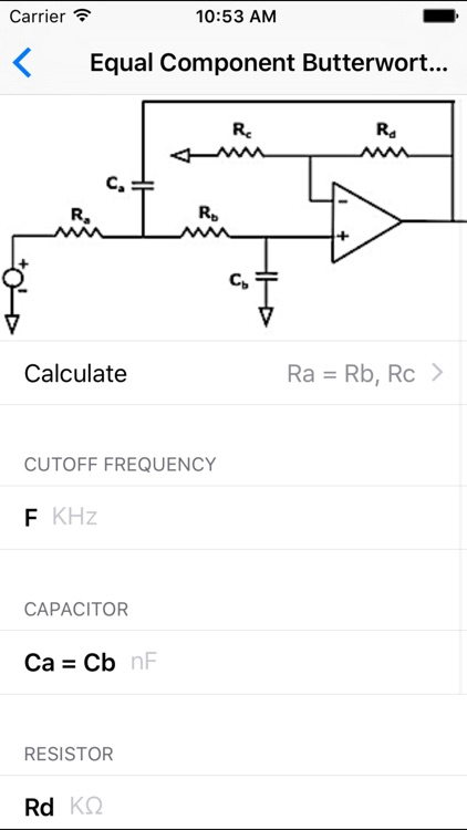 Electronic Filters Calculators - Electrical