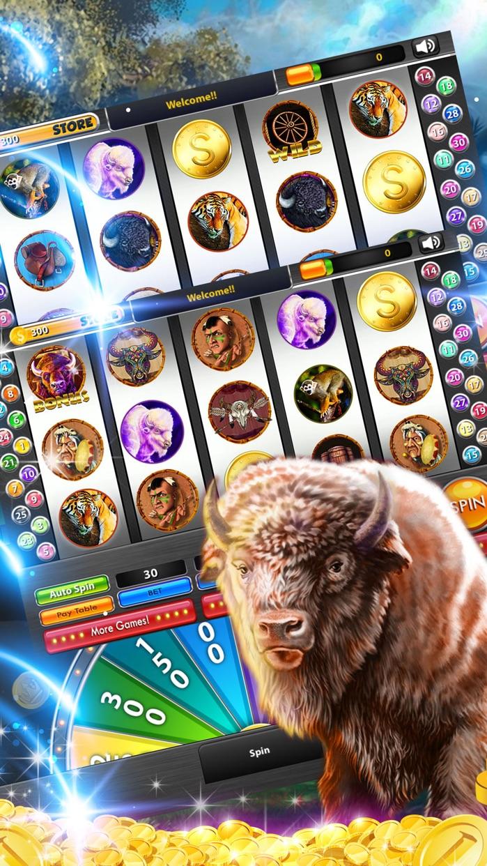 Buffalo Slots Cherokee Buffalo Slot Machines-Play Free Real Fun Las Vegas Slots Games & Win Big Jackpots! Screenshot