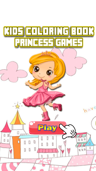 Princess Coloring Book - Drawing Pages and Painting Educational Games Learning Skill For Kid & Toddler screenshot one