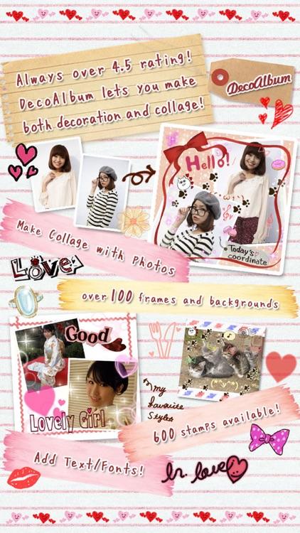 DecoAlbum, Japanese photo collage diary app