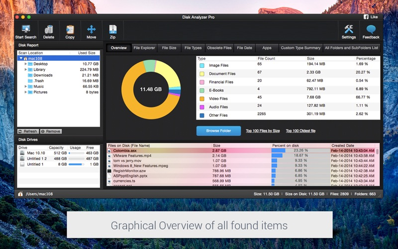Disk Analyzer Pro for Mac