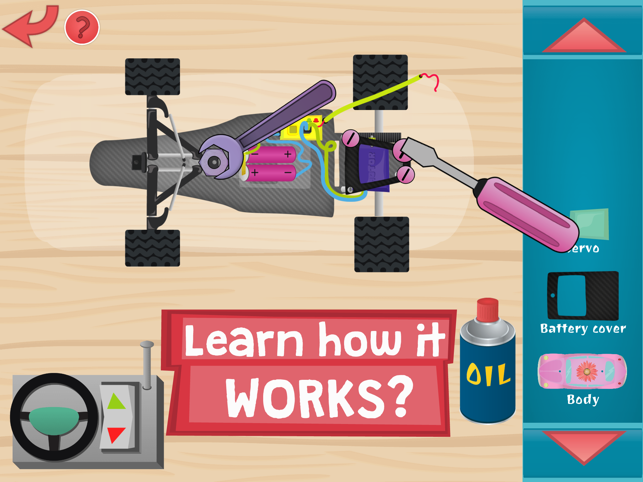 ‎Kids RC Toy car mechanics Game for curious boys and girls to look, interact, listen and learn Screenshot