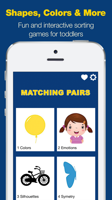 Matching Pairs - Educational Learning Game for Toddlers