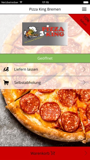 Pizza king bremen on the app store iphone screenshots publicscrutiny Choice Image
