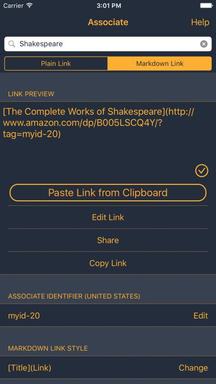 Associate: Amazon Linker screenshot-0
