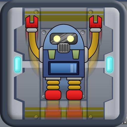 Robot Man Mega Factory Pixel Jump