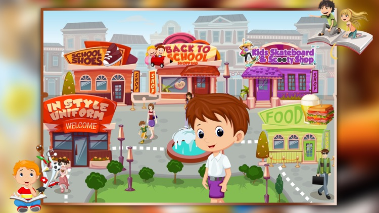 Supermarket Boy School Shopping - Learn to buy uniform, lunchbox & shoes in crazy Super market screenshot-3