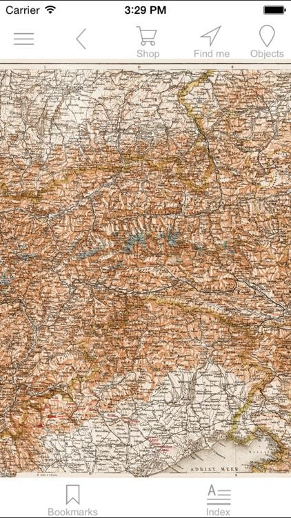 Austrian Alps (1903). History map.
