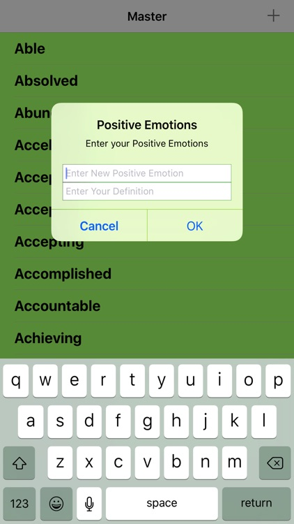 Positive Emotions List