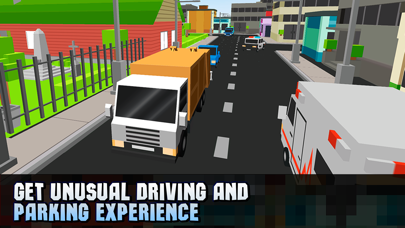 Pixel City Garbage Truck Driver 3D Full screenshot four