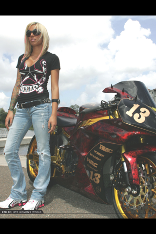 Born To Ride Women's World - náhled