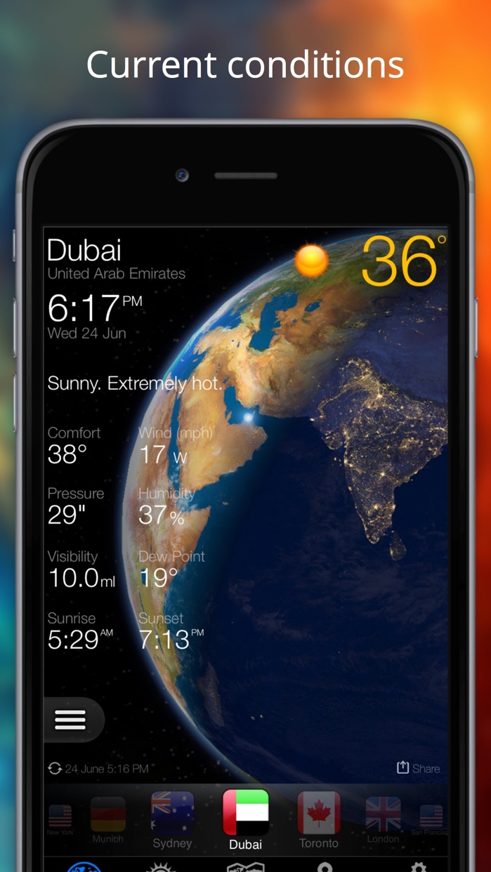 Weather Now Widget for iPhone Screenshot