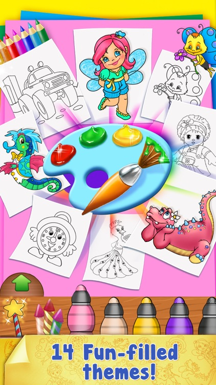 Paint Sparkles Draw - My First Coloring Book HD! screenshot-4