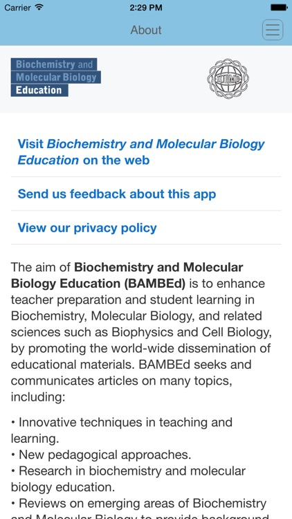 Biochemistry and Molecular Biology Education screenshot-3