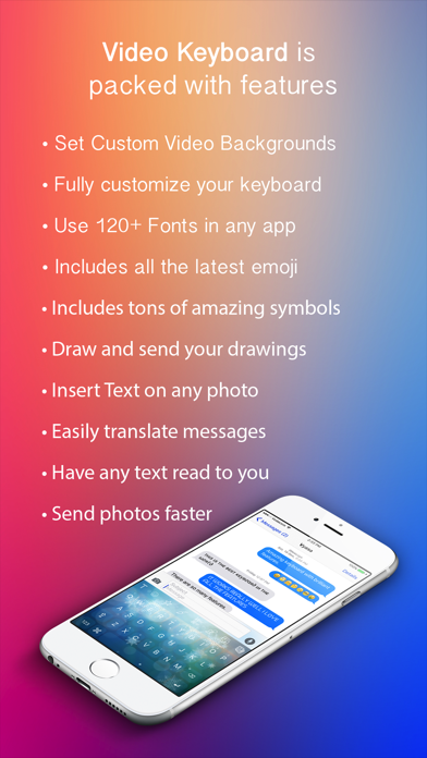 VideoKeys Pro - Set Video backgrounds, Animate and customise your keyboard 2.0 IOS