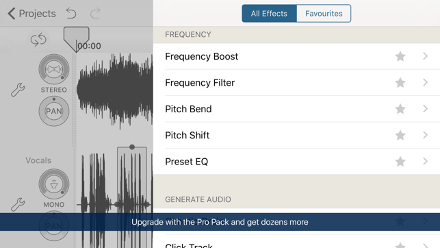 Audio Editing App for iPhone