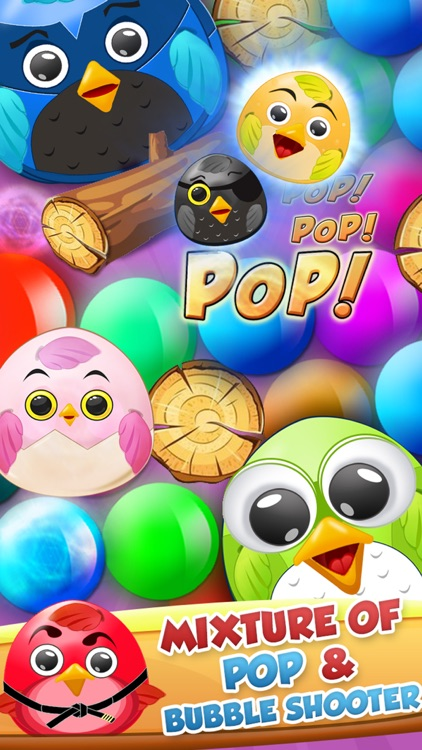 Pop The Birdy - Bubble Shooter Cross Finger Puzzles