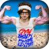 ジム 体 写真 編集者 - なります ボディー ビルダー, 加えます 筋肉 そして 上腕二頭筋 ステッカー - iPhoneアプリ