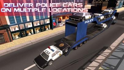 La policía camión de transporte de coches - coche camión y entregar los vehículos de policíaCaptura de pantalla de4