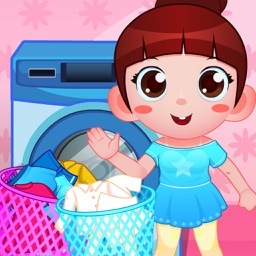 Cute Girl Clean up Room
