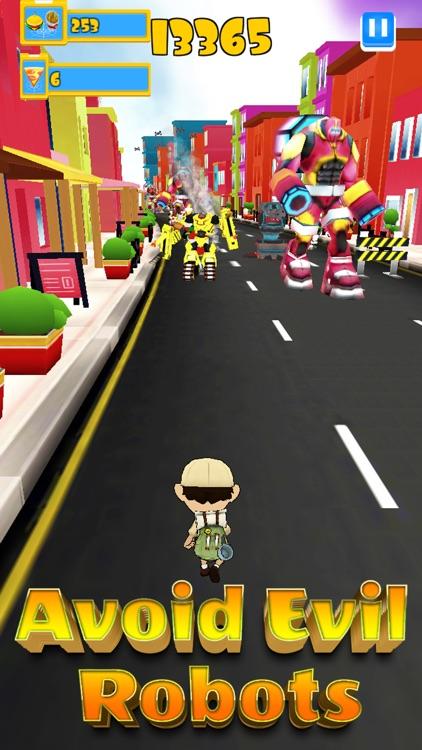 Robot Clash Run - Fun Endless Runner Arcade Game! screenshot-0