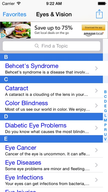 Eyes & Vision: Eye Test, Glaucoma Handbook & Color Blindness Facts