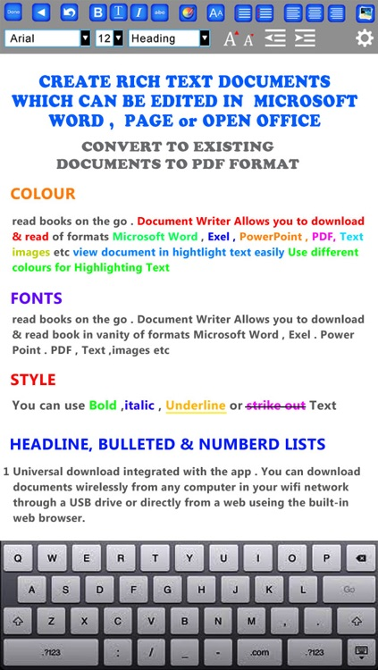 GoodWriter 4 - Documents, Hand-Written Notes and PDF