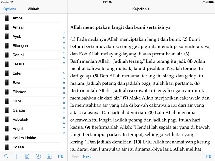 Alkitab for iPad screenshot-0