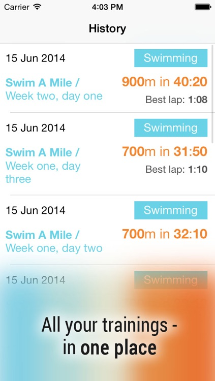 Swim! Bike! Run! : workout plans for swimming, cycling and running screenshot-4