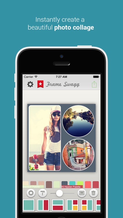 Frame Swagg Pro - Photo collage maker to stitch pic for Instagram screenshot-0