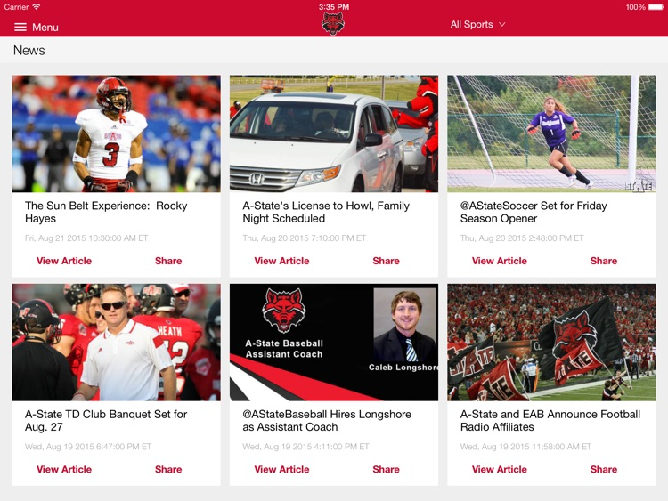 A-State Athletics for iPad