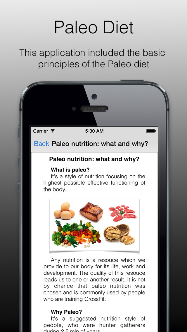 Paleo Diet - paleo diet basics, application which will introduce you to the basics of paleo nutrition. Sport diet or sport food.のおすすめ画像1