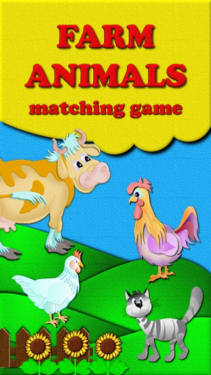 Animal Match - free educational learning card matching games for kids and parents