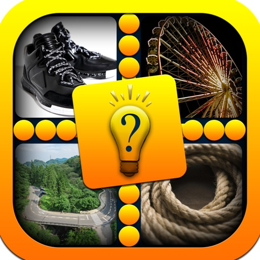 Pics & Guess Word - Cool brain teaser and mind addicting one word four picture puzzle game iOS App