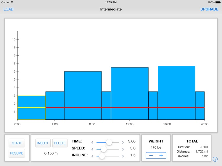 Treadmill Interval Running Lite screenshot-1