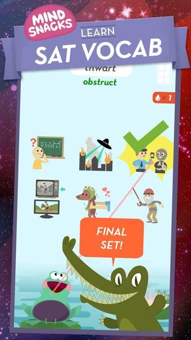 SAT Vocab by MindSnacks Screenshot on iOS