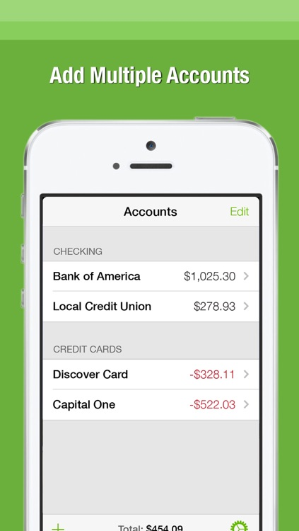 simple checkbook register app