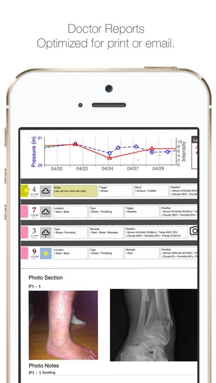 My Pain Diary: Chronic Pain & Symptom Tracker screenshot-3