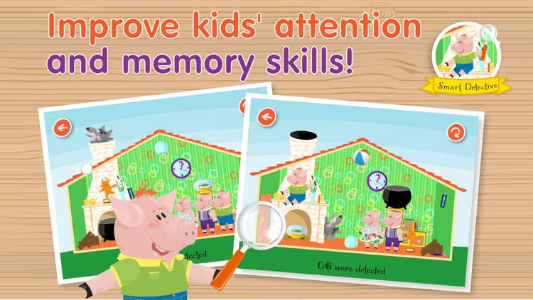 Kids Apps ∙ The Three Little Piggies and Big Bad Wolf. screenshot-4