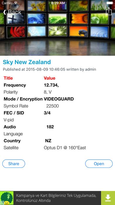 New Zealand TV Channels Sat Info screenshot three