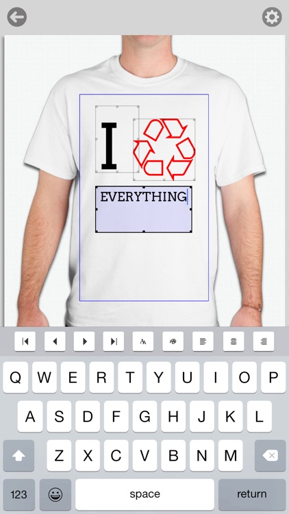 Shirtsy - Design and mail a custom shirt & clothing app image