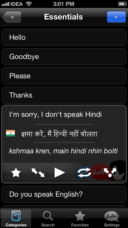 Lingopal Hindi LITE - talking phrasebook