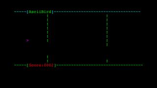 Ascii Bird Game screenshot two