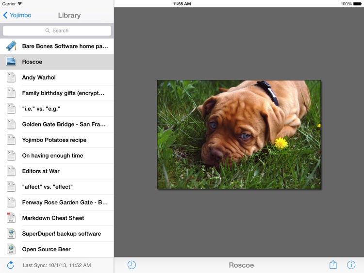 Yojimbo for iPad