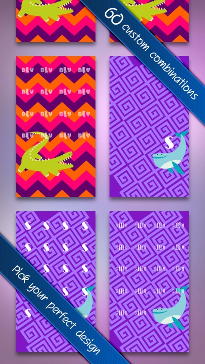 Magical Monograms FREE - Customized Designer Wallpaper, Backgrounds and Monogram Icon Skins screenshot-3