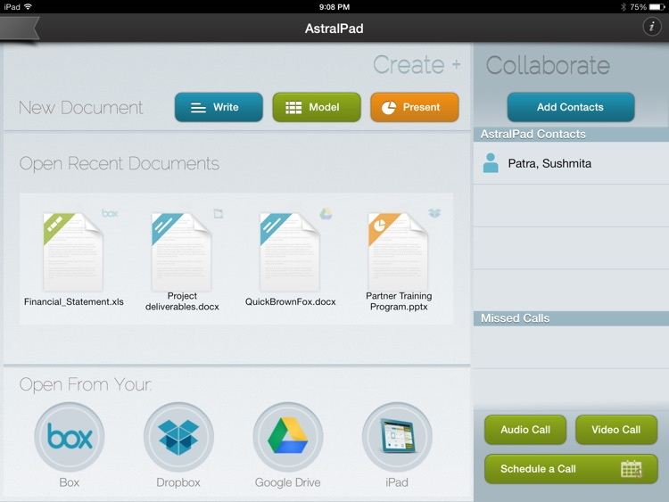 AstralPad Office Collaboration – Screen sharing, video calling and documents, spreadsheet, presentation Editing