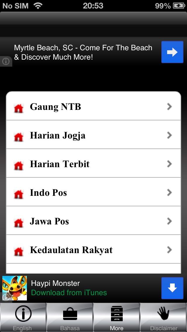 Indonesia News (Berita Indonesia) iPhone